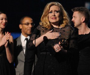 Adele, grammy awards, and black image