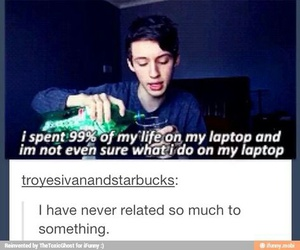 troye sivan, funny, and tumblr image