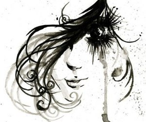 art, beautiful, and black and white image