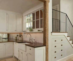 kitchen and stairs image