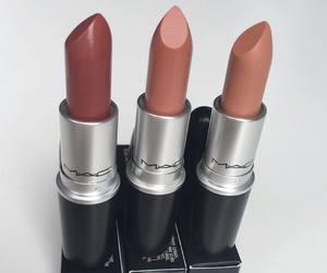 cosmetics, girl, and lipstick image