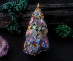 crystal, handmade, and aura quartz image