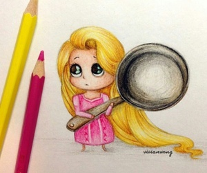 rapunzel, drawing, and disney image