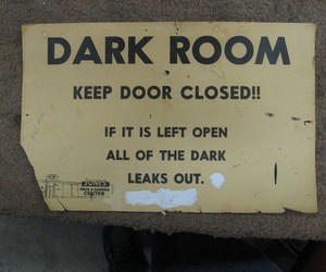 dark, funny, and dark room image