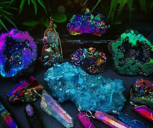 crystals, rainbow, and hippy image
