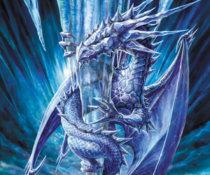 dragon, blue, and fantasy image