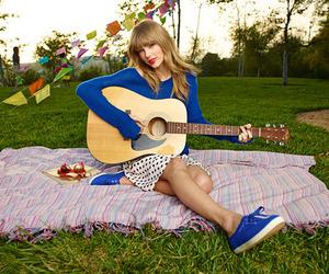 Taylor Swift, keds, and guitar image
