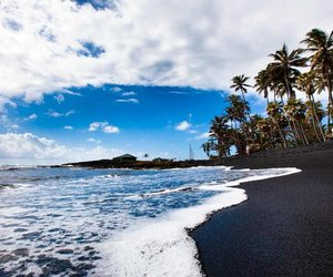 beach, summer, and black image