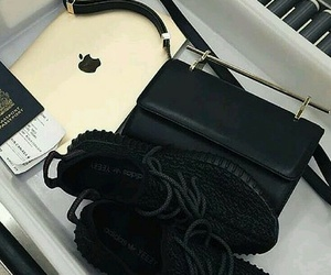 shoes, black, and apple image