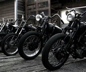 motorcycle, bike, and black image