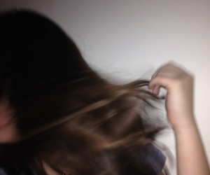 blurry, tumblr, and brown hair image