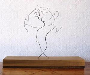 art, kiss, and couple image