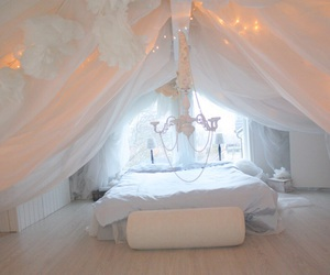 bedroom, cozy, and decoration image