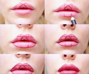 lips, makeup, and diy image