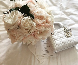 flowers, bag, and bouquet image