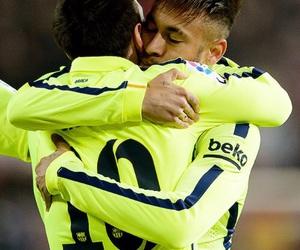 neymar, messi, and Barca image