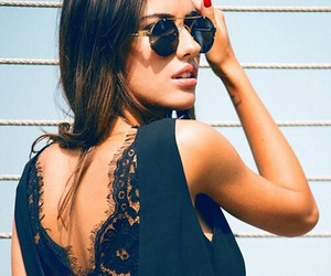 fashion, lace, and sunglasses image