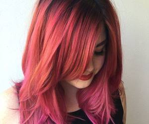 hair, color, and pink image