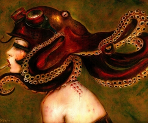 octopus, Brian Viveros, and cigarette image