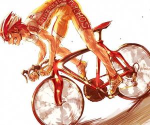 anime, boys girls and bicycles, and naruko shoukichi image