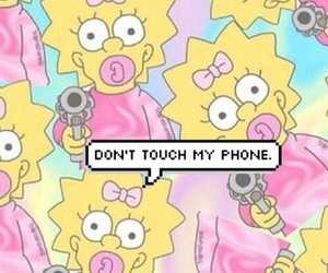 wallpaper, simpsons, and phone image