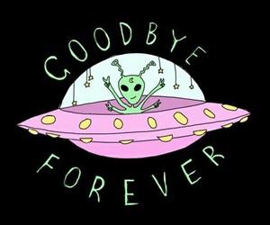 alien, wallpaper, and goodbye image