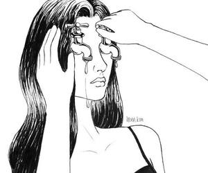 art, cry, and sad image