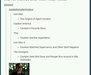 Avengers, Marvel, and phil coulson image