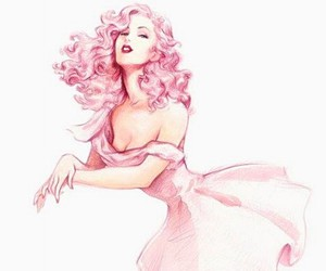 pink, drawing, and art image