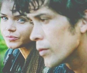 marie avgeropoulos, the 100, and bob morley image