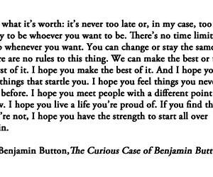 benjamin button, life, and quotes image