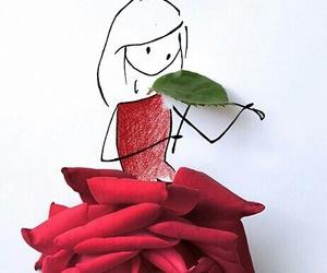 rose, violin, and art image