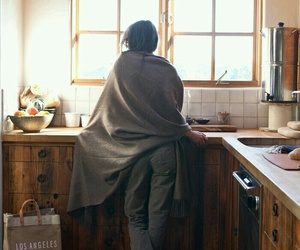 kitchen, girl, and morning image