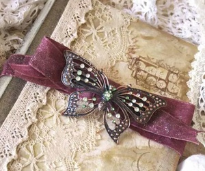 vintage, butterfly, and girl image