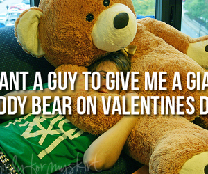 teddy bear, valentines, and valentines day image