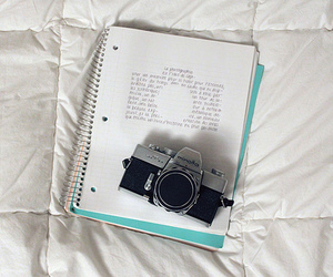 camera, photography, and notebook image