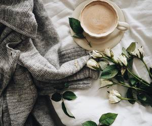 cardigan, coffee, and still life image