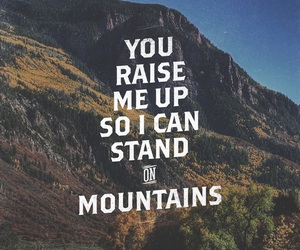 god, jesus, and mountains image