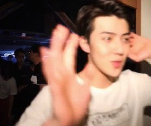 exo, low quality, and sehun image