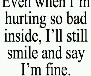 fine, hurt, and quote image