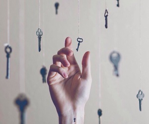key, hand, and tattoo image