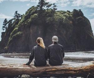 boy, sea, and girl image