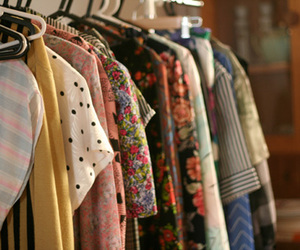 closet, clothes, and floral image