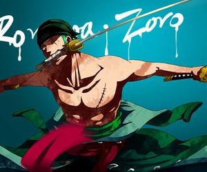 one piece, zoro, and pirate image