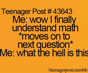 math, teenager post, and funny image