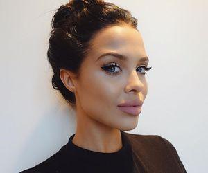 girl, brunette, and makeup image