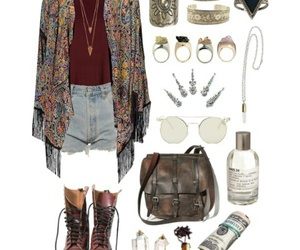 outfit, bag, and boho image