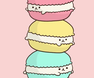 wallpaper, pink, and macaroons image