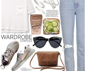 adidas, boyfriend jeans, and outfit image