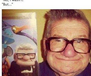 up, funny, and grandpa image